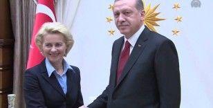 Cumhurbaşkanı Erdoğan, AB Komisyonu'nun yeni başkanıyla telefonda görüştü