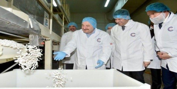 Bakan Varank sakız üreticisi CCC fabrikasını ziyaret etti