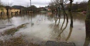 Zonguldak'ta köy yolları sular altında kaldı