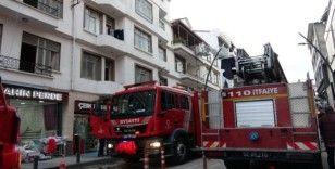 Ordu'daki çatı yangını paniğe neden oldu