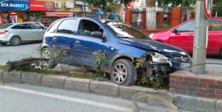 Kazayı engellemek isterken kaza yaptı