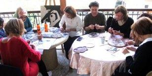 Hatay'da kadın mozaik kooperatifi kuruldu