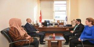 Başkan Recep Bozkurt'tan KYK Müdürü Özüdoğru'ya hayırlı olsun ziyareti