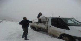 Kütahya Domaniç'te kar kalınlığı 30 santimetreye ulaştı