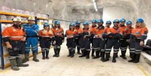 Yerin 230 metre altında inceleme yaptılar
