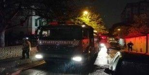 Erenköy'de 8 katlı apartmanda korkutan yangın