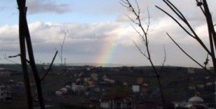 Arnavutköy'de gökkuşağı sürprizi