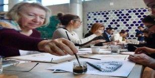 Türk Kahvesi Günü'nde kahve ile resim çizdiler