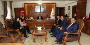 Fen Lisesi Okul Aile Birliği, Vali Aktaş ve Genel Sekreter Duru'yu ziyaret etti