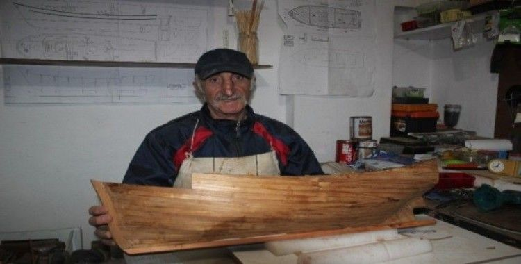 Balıkçılık mesleğini maketlere aktardı