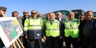 AK Partili Yavuz, Sarıçay Barajı şantiyesinde incelemede bulundu