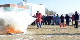 Tepebaşı personeline yangın eğitimi