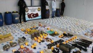 Diyarbakır'da teröristlere ait cephanelik ele geçirildi