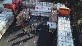 250 ton sahte içki ele geçirildi