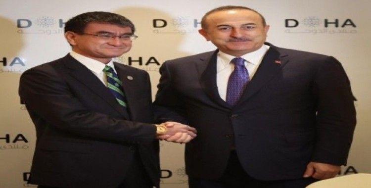 Dışişleri Bakanı Çavuşoğlu, Japonya Savunma Bakanı Kono ile görüştü