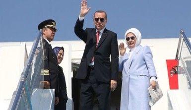 Cumhurbaşkanı Erdoğan Tunus'ta, mevkidaşı Said tarafından karşılandı