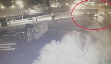 Uzman çavuşun hayatını kaybettiği kaza kamerada