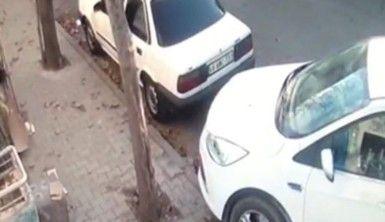 Hırsızlar otomobilden cüzdanı böyle çaldı