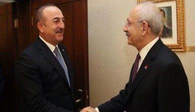 Bakan Çavuşoğlu, Kılıçdaroğlu ile Libya tezkeresini görüştü