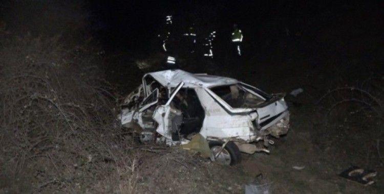 85 metre takla atan otomobil, dereye düştü: 1 ölü