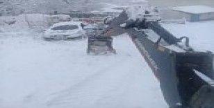 Pazaryeri'nde karla mücadele çalışmaları