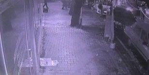 Kaza anı güvenlik kameralarına yansıdı