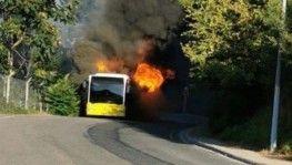 İETT otobüsü alev alev yandı