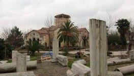Ayasofya Camisi'nde süren restorasyon çalışmalarında sona geliniyor