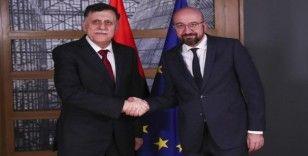 AB Konseyi Başkanı Michel, Libya Başbakanı al-Sarraj ile görüştü
