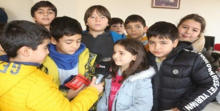 Minik öğrenciler gazetecilik mesleğiyle tanıştı