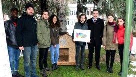 Anadolu Üniversitesi öğrencilerinden sokak hayvanları için kulübe