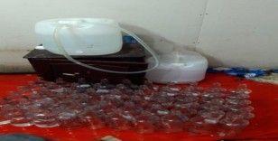Başakşehir'de sahte alkol imalathanesine baskın