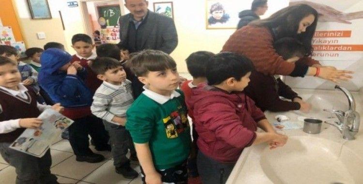 Kızılcahamam'da doğru el yıkamayı öğrettiler