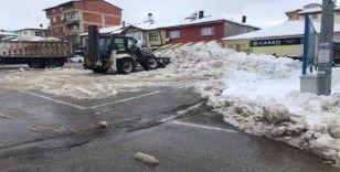 Hüyük'te kar seferberliği