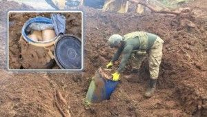 Lice'de 2 ton uyuşturucu madde ele geçirildi
