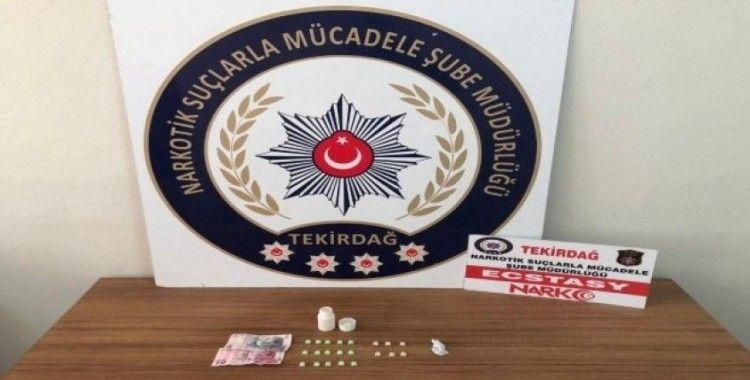 Tekirdağ'da uyuşturucu operasyonunda 2 kişi yakalandı