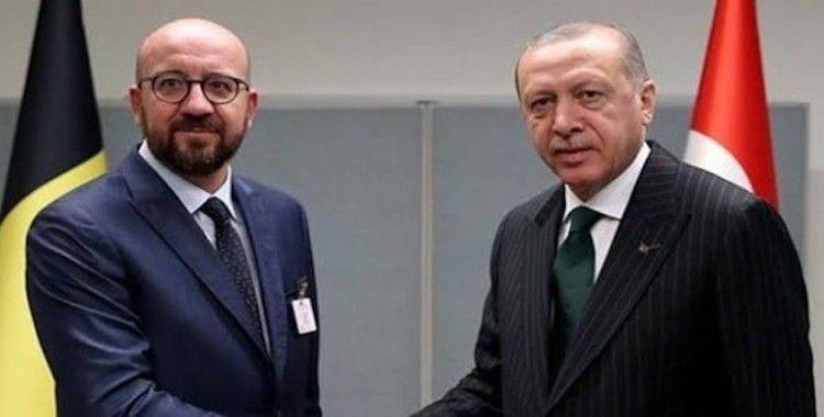 Cumhurbaşkanı Erdoğan, AB Konseyi Başkanı Michel'i kabul etti