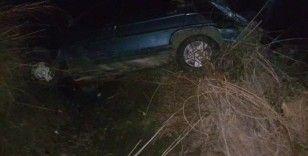 Develi'de otomobil kanala düştü: 3 yaralı
