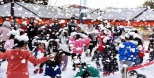 Teneffüs Park'ta kar fırtınası