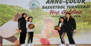 Anne-Çocuk Basketbol Turnuvasında renkli görüntüler yaşandı