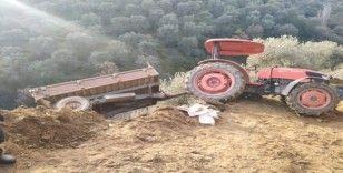 Devrilen traktörden düşen kadın hayatını kaybetti