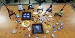Minik öğrenciler taş boyama sanatı ile tanıştı