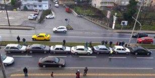 Kdz. Ereğli'de zincirleme kaza: 7 araç birbirine girdi