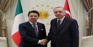Cumhurbaşkanı Erdoğan, İtalya Başbakanını kabul etti