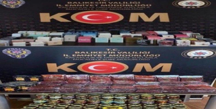 Polisten kaçak parfüm ve nargile tütününe operasyon