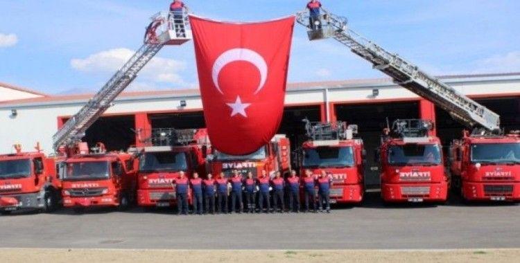 Erzincan itfaiyesi 2019 yılında 3 bin 500 kişiye eğitim verdi