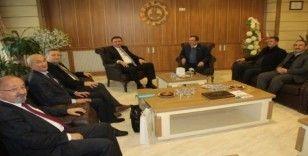 Kırgızistan Büyükelçisi Kubanıçbek Ömüraliyev MTSO 'yu  ziyaret etti