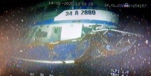 Batan balıkçı teknesinin enkazı su altında böyle görüntülendi