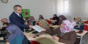 Kaymakam Pişkin, Kız Kur'an Kursu öğrencilerini ziyaret etti