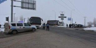 İnönü'de freni boşalan kamyon 3 araca çarparak durabildi